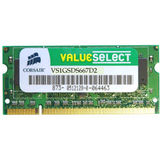 Corsair ValueSelect, 1GB, DDR2, 667MHz, CL5, 1.8v