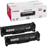 TWIN PACK BLACK CRG-718 2X3,4K ORIGINAL CANON LBP 7200CDN