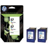 Cartus HP TWIN PACK COLOR NR.57 C9503AE 2X17ML ORIGINAL , PHOTOSMART 100