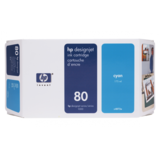 Cartus HP CYAN NR.80 C4846A 350ML ORIGINAL , DESIGNJET 1050