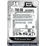 WD Black, 750GB, SATA-III, 7200 RPM, cache 16MB, 9.5 mm