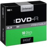 DVD-R 4.7GB 16x printable slim case 10 buc