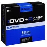 DVD+R 8.5GB 8x Dual Layer jewel case 5 buc