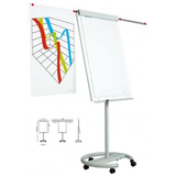 Flipchart magnetic, 105 x 70 cm, cu brate laterale, cu rotile, SMIT Vario