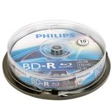 Blu-Ray disk Recordable, 25GB, 6x, 10 buc/Cakebox, PHILIPS