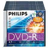 DVD-R 4.7GB  Slimcase, 16x, PHILIPS