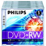 Philips DVD-RW 4.7GB  Jewelcase, 4x, PHILIPS