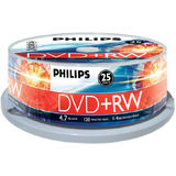 DVD+RW 4.7GB (25 buc. Spindle, 4x) PHILIPS