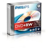 DVD+RW 4.7GB  Slimcase, 4x, PHILIPS