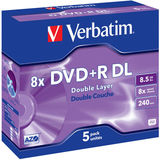 DVD+R 8.5GB 8x Double Layer Matt Silver Jewel Case 5 buc.