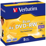 DVD-RW 1.4GB 4x 8cm Matt Silver Jewel Case 5 buc.