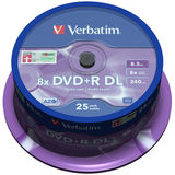 DVD+R 8.5GB 8x Double Layer Matt Silver Spindle 25 buc.