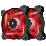 Corsair Air Series SP120 LED Red High Static Pressure 120mm Fan Twin Pack