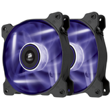 Corsair Air Series AF120 LED Purple Quiet Edition High Airflow 120mm Fan - Twin Pack