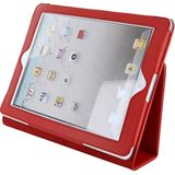 4World Husa protectie tip stand 08398 Red pentru iPad generatia a 2-a, iPad generatia a 3-a, iPad generatia a 4-a