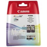 Cartus COMBO PACK PG-510 + CL-511 ORIGINAL CANON PIXMA MP240