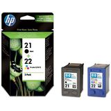 Cartus HP COMBO PACK NR.21 + NR.22 SD367AE ORIGINAL , DESKJET 3940