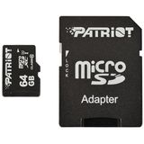 Card de Memorie Patriot Micro SDXC LX Series 64GB UHS-I Class 10 + Adaptor SD