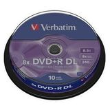 DVD+R 8.5GB Double Layer 8x Matt Silver spindle 10 buc
