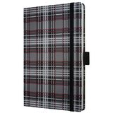 Caiet lux cu elastic, coperti rigide, A6(95 x 140mm), 97 file, Conceptum - fashion plaid - dictando