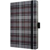 Caiet lux cu elastic, coperti rigide, A6(95 x 140mm), 97 file, Conceptum - fashion plaid - velin