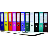 Biblioraft A4, plastifiat PP/paper, margine metalica, 75 mm, Optima Basic - galben