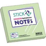Hopax Notes autoadeziv 76 x 76 mm, 100 file, Stick'n - verde pastel
