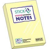 Hopax Notes autoadeziv 76 x 51 mm, 100 file, Stick'n - galben pastel