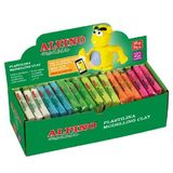 Display plastelina fluorescenta, 36 x 30gr./display, Alpino - 6 culori asortate