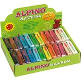 Display plastelina standard, 24 x 50gr./display, Alpino - 12 culori asortate