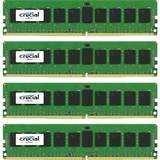 ECC RDIMM DDR4 32GB 2400MHz CL17 1.2v Single Rank x4 Quad Channel Kit