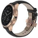Vector SmartWatch Vector Luna Rose Gold, Black Padded Croco leather strap, small