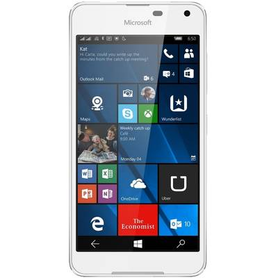 Smartphone Microsoft Lumia 650 Dual Sim 16GB 4G White Light Silver