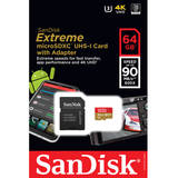 SanDisk Micro SDXC Extreme Class 10 UHS-I 64GB + Adaptor SD