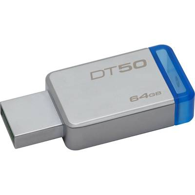 Memorie USB Kingston DataTraveler 50 64GB USB 3.0 (Metal/Blue)