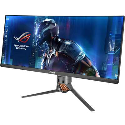 Monitor Asus Gaming ROG Swift PG348Q Curbat 34 inch 5ms black-orange G-Sync 100Hz