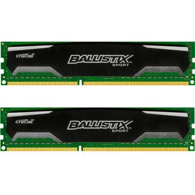 Memorie Crucial Ballistix Sport 8GB DDR3 1600MHz CL9 1.5v Dual Channel Kit