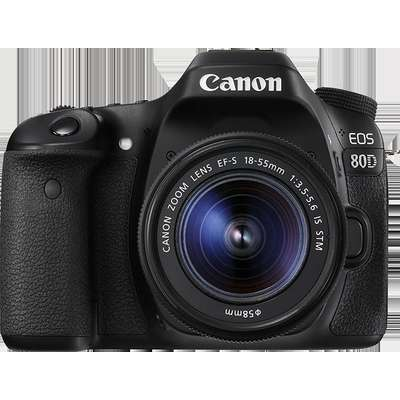 Aparat foto DSLR PHOTO CAMERA CANON 80D EF 18-55 IS STM