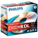 DVD+R 8.5GB Double layer  8x, Jewelcase, PHILIPS