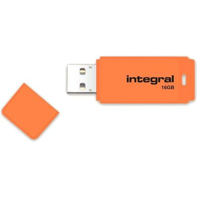 Memorie USB Integral Neon Orange 16GB USB 2.0