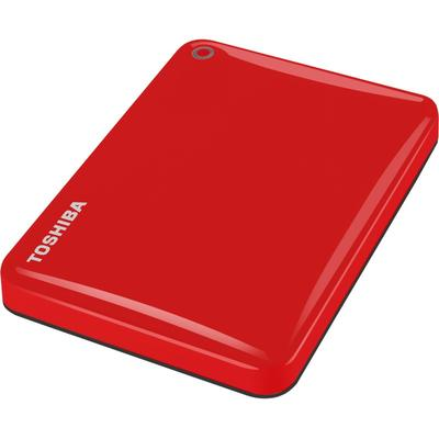 Hard Disk Extern Toshiba Canvio Connect II, USB 3.0, 2.5 inch, 1TB, red