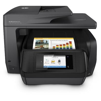Multifunctionala HP Officejet Pro 8725 e-All-in-One, Inkjet, Color, Format A4, Fax, Retea, Wi-Fi, Duplex