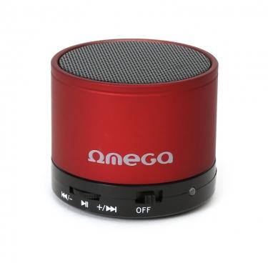 Boxe OMEGA SPEAKERS OG47R ALU BLUETOOTH V3.0 RED 42646