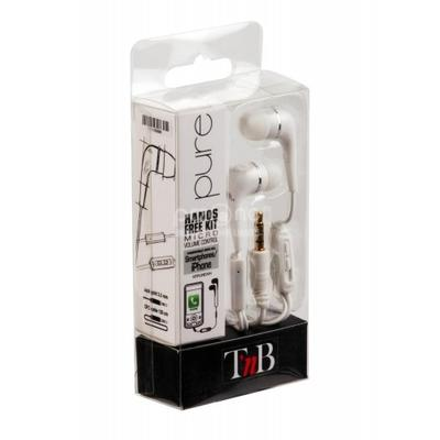 Casti TnB  HANDS FREE KIT PURE WHITE
