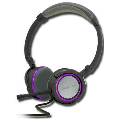 Casti APPROX FOLDABLE STEREO HEADSET GREY/PURPLE