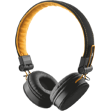 TRUST UR FYBER HEADPHONE - BLACK/ORANGE