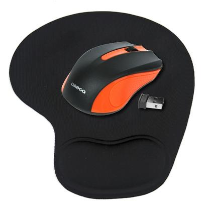 Mouse OMEGA MOUSE OM-419 WR-LESS 2.4GHz ORANGE+GEL PAD