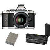 Aparat foto compact OLYMPUS E-M5II 1240 Kit slv/blk + HLD-8 Power Battery Holder + BLN-1 Battery