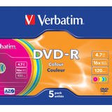 Verbatim DVD-R AZO 4.7GB 16X COLOUR SURFACE