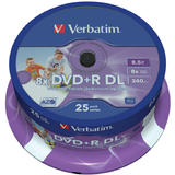 Verbatim  DVD+R 8x DBL LAYER PRINT.SP25